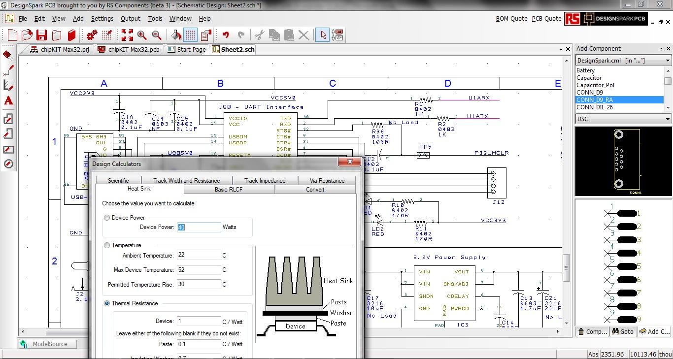 Schemi Elettrici Rs : Da rs components la nuova versione di designspark pcb meccanica plus