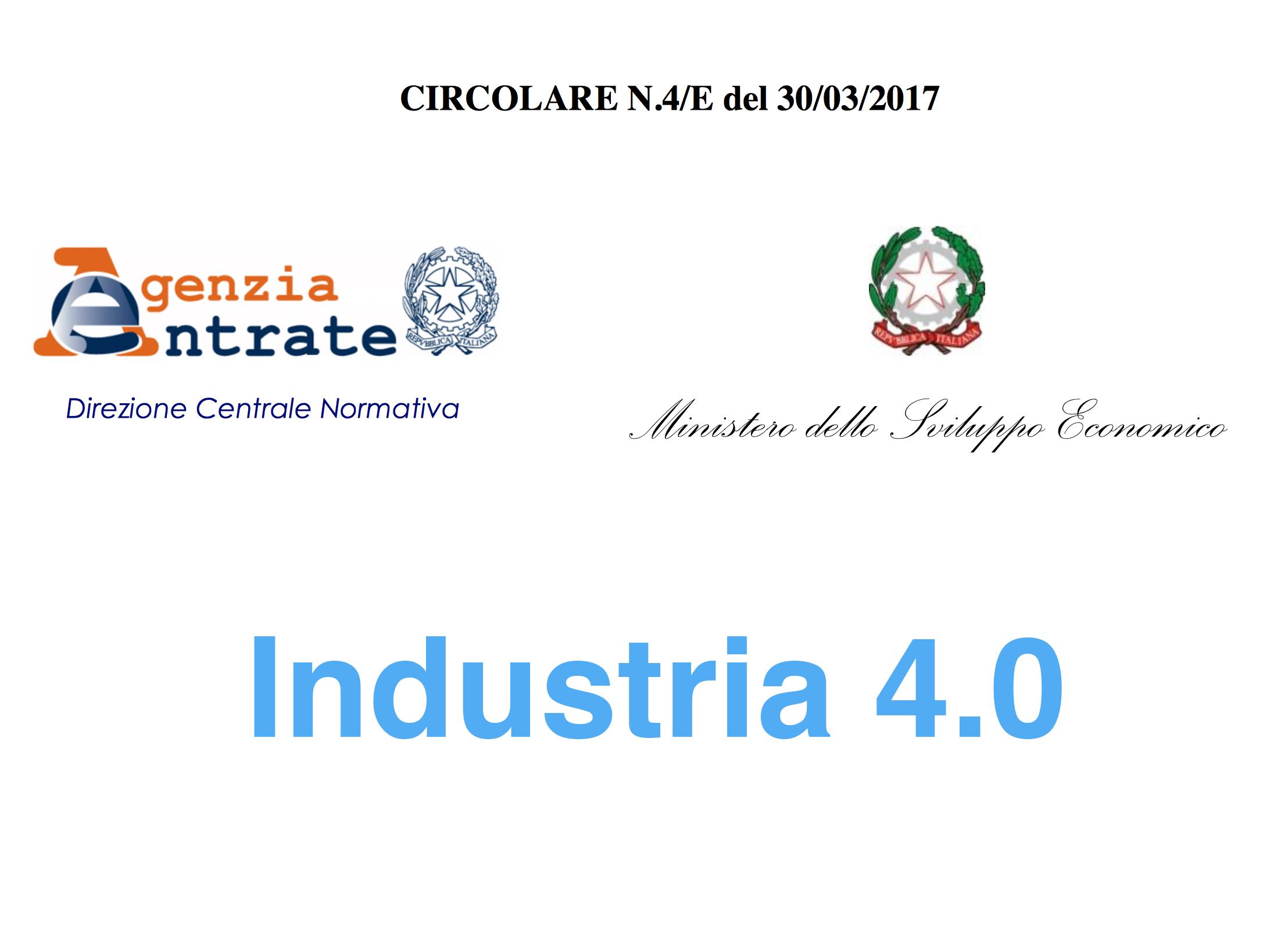 Industria 4.0 circolare del 30 marzo